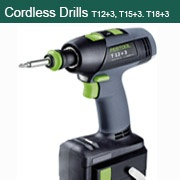 Cordless Drills T 12+3, T 15+3 and T 18+3