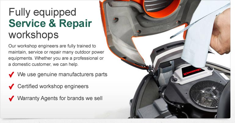 Fully Equipped Service & Repair Workshops