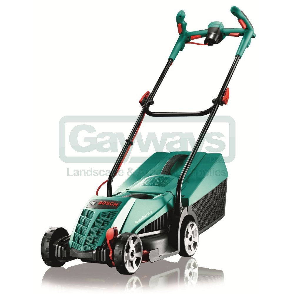 rotak 32 ergoflex electric push four wheeled lawnmower from gayways uk. Black Bedroom Furniture Sets. Home Design Ideas