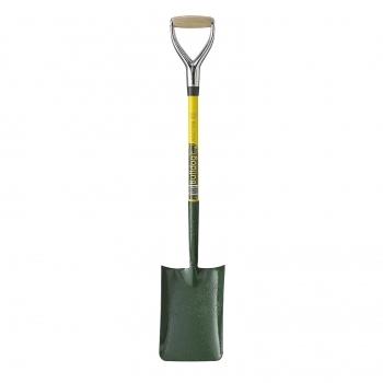 BULLDOG Yellow Fiberglass Trench Shovel