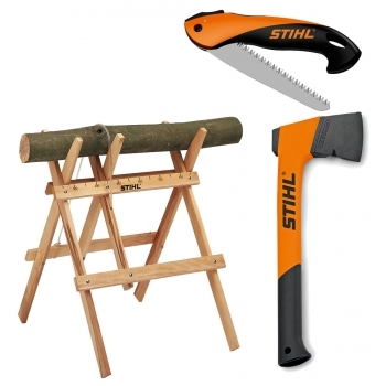 DEALS Sawhorse + Axe + Saw