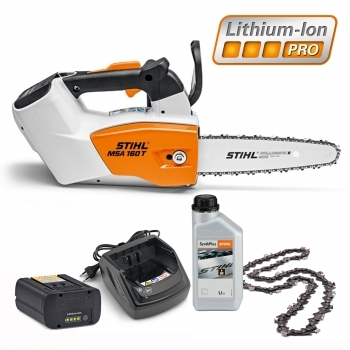 DEALS STIHL Battery Chainsaw MSA 160 T KIT + FREE Chain + FREE 1L Chain Oil