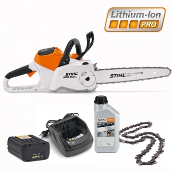 DEALS STIHL Battery MSA 200 C-BQ Chainsaw Kit + FREE CHAIN+ FREE Chain Oil