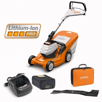 DEALS STIHL RMA 443 TC Battery Lawnmower + Battery & Charger + FREE Bag For Battery + FREE BLADE