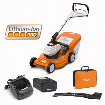 DEALS STIHL RMA 448 TC Battery Lawnmower + Battery & Charger + FREE Bag For Battery + FREE BLADE