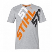 STIHL Mens 3 Colour Fonted T-Shirt