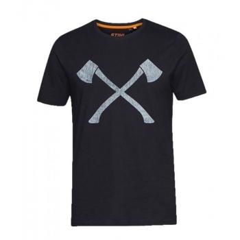 STIHL Timbersports Axe T Shirt with Grey Logo